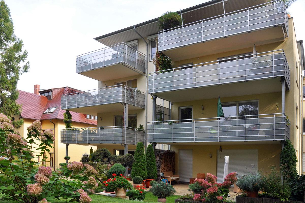 Balkonanlagen an einem Neubau
